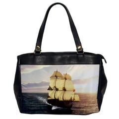 French Warship Oversize Office Handbag (One Side)