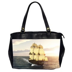 French Warship Oversize Office Handbag (Two Sides)