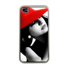 RED HAT Apple iPhone 4 Case (Clear)