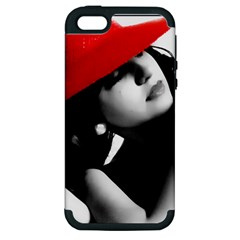 Red Hat Apple Iphone 5 Hardshell Case (pc+silicone)