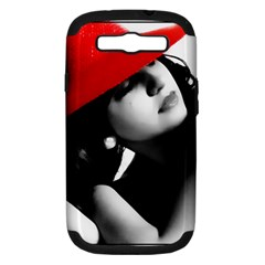 Red Hat Samsung Galaxy S Iii Hardshell Case (pc+silicone)