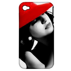 Red Hat Apple Iphone 4/4s Hardshell Case (pc+silicone)