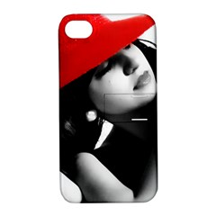 RED HAT Apple iPhone 4/4S Hardshell Case with Stand