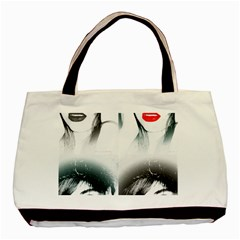 THE GIRL Twin-sided Black Tote Bag
