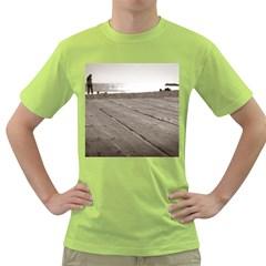 Laguna Beach Walk Mens  T-shirt (Green)