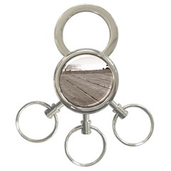 Laguna Beach Walk 3-Ring Key Chain