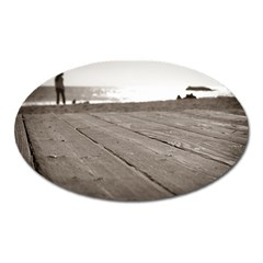 Laguna Beach Walk Magnet (oval)