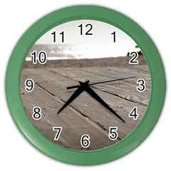 Laguna Beach Walk Wall Clock (color)