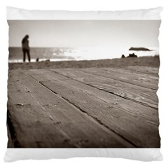 Laguna Beach Walk Large Cushion Case (two Sides)