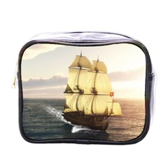 French Warship Mini Travel Toiletry Bag (one Side)