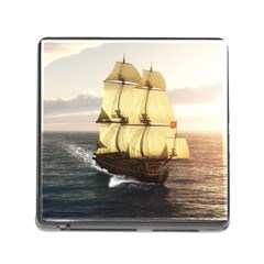 French Warship Memory Card Reader with Storage (Square)