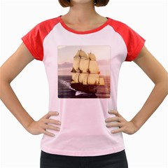 French Warship Women s Cap Sleeve T-Shirt (Colored)