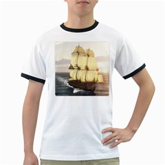 French Warship Mens' Ringer T-shirt