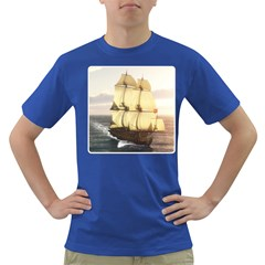 French Warship Mens' T-shirt (Colored)