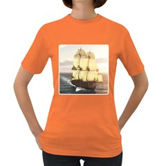 French Warship Womens' T-shirt (Colored)