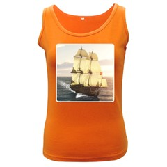 French Warship Womens  Tank Top (dark Colored)