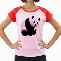 Panda Bear Women s Cap Sleeve T-Shirt (Colored)
