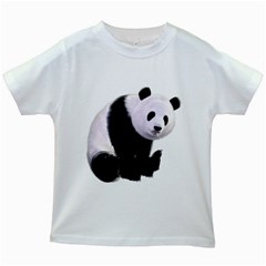 Panda Bear Kids' T-shirt (White)