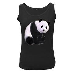 Panda Bear Womens  Tank Top (Black)