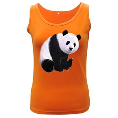 Panda Bear Womens  Tank Top (Dark Colored)
