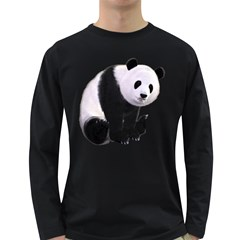 Panda Bear Mens' Long Sleeve T-shirt (Dark Colored)