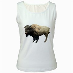 Bison Womens  Tank Top (White)