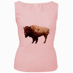 Bison Womens  Tank Top (Pink)