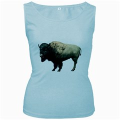Bison Womens  Tank Top (Baby Blue)