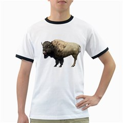 Bison Mens' Ringer T Shirt