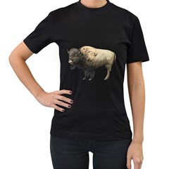 Bison Womens' Two Sided T-shirt (Black)
