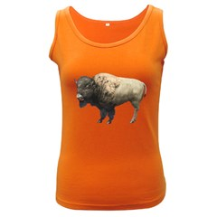 Bison Womens  Tank Top (Dark Colored)