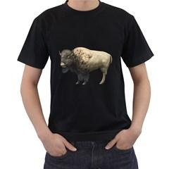 Bison Mens' T Shirt (black)
