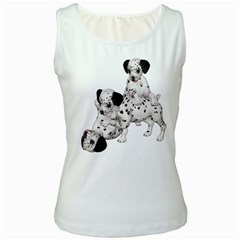 Dalmatian puppies 1 Womens  Tank Top (White)