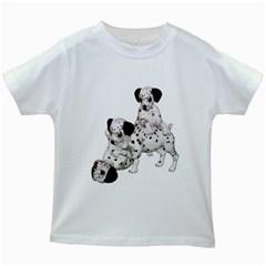 Dalmatian puppies 1 Kids' T-shirt (White)
