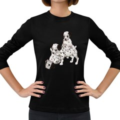 Dalmatian puppies 1 Womens' Long Sleeve T-shirt (Dark Colored)