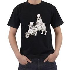 Dalmatian puppies 1 Mens' T-shirt (Black)