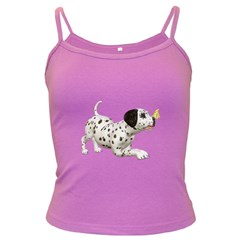 Dalmatian Puppies 2 Spaghetti Top (colored)