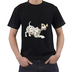 Dalmatian puppies 2 Mens' T-shirt (Black)