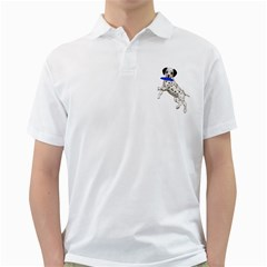 Dalmatian Puppies 3 Mens  Polo Shirt (white)