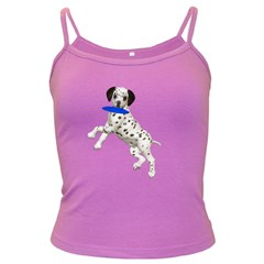 Dalmatian puppies 3 Spaghetti Top (Colored)