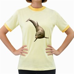 Dolphin 1 Womens  Ringer T-shirt (Colored)