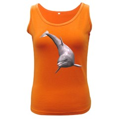 Dolphin 1 Womens  Tank Top (Dark Colored)