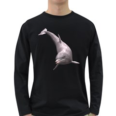 Dolphin 1 Mens' Long Sleeve T Shirt (dark Colored)