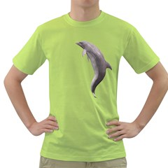 Dolphin 2 Mens  T-shirt (Green)