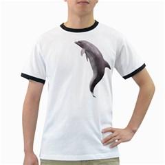 Dolphin 2 Mens' Ringer T Shirt