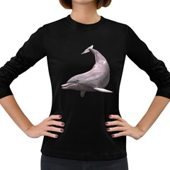 Dolphin 3 Womens' Long Sleeve T-shirt (Dark Colored)