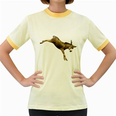 Donkey 1 Womens  Ringer T Shirt (colored)
