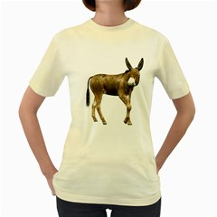 Donkey 2  Womens  T-shirt (Yellow)