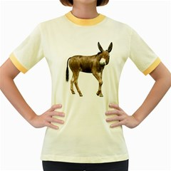 Donkey 2 Womens  Ringer T Shirt (colored)