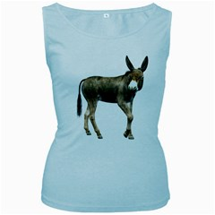 Donkey 2 Womens  Tank Top (baby Blue)